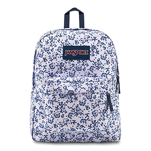 JanSport Superbreak Backpack - White Field Floral - Classic, Ultralight by JanSport