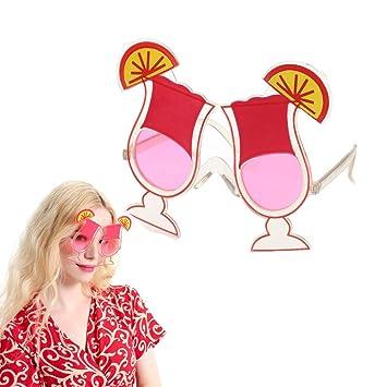 BraveWind 3 Pcs Funny Flamingo Sunglasses Party Glasses Hawaiian Tropical Sunglasses Dress Costume Photo Props for Luau Beach Parties