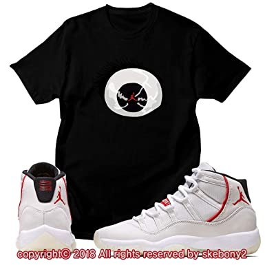 ee040df3359 Custom T Shirt Matching Style of Air Jordan 11 Platinum Tint JD 11-4-2-8 at  Amazon Men's Clothing store: