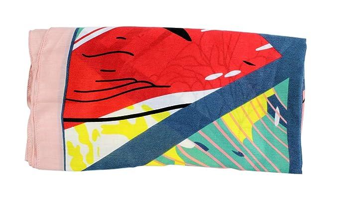 Ranvi estilo étnico algodón impreso bufandas chal de doble uso playa toalla de playa grandes bufandas