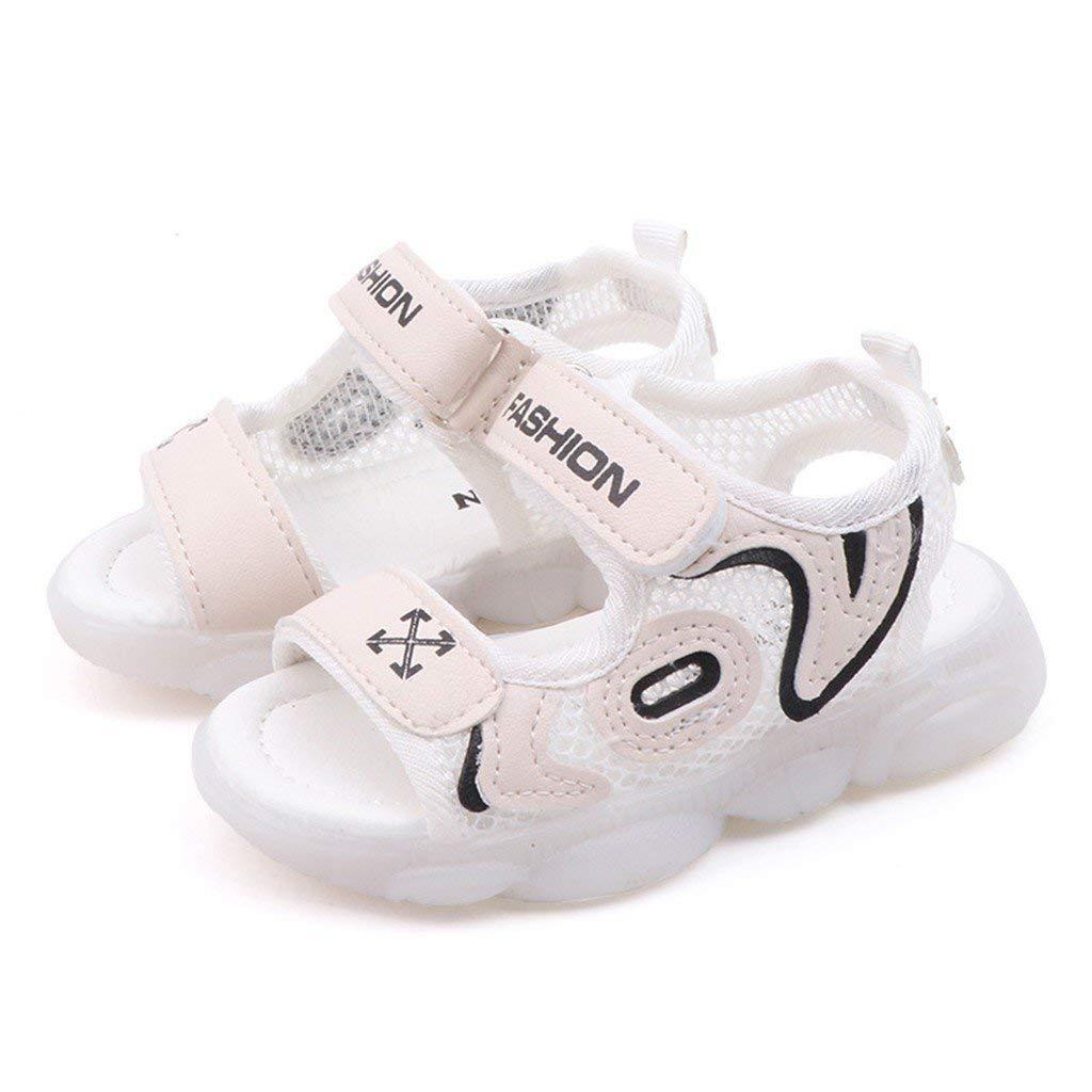 Sandalias ni/ña ni/ño Verano Riou Zapatos de Playa LED de Malla Ligeros Antideslizante Velcro Sandalias Linda de Dibujos Sandalias Deportivas para Chicos Chicas Calzado