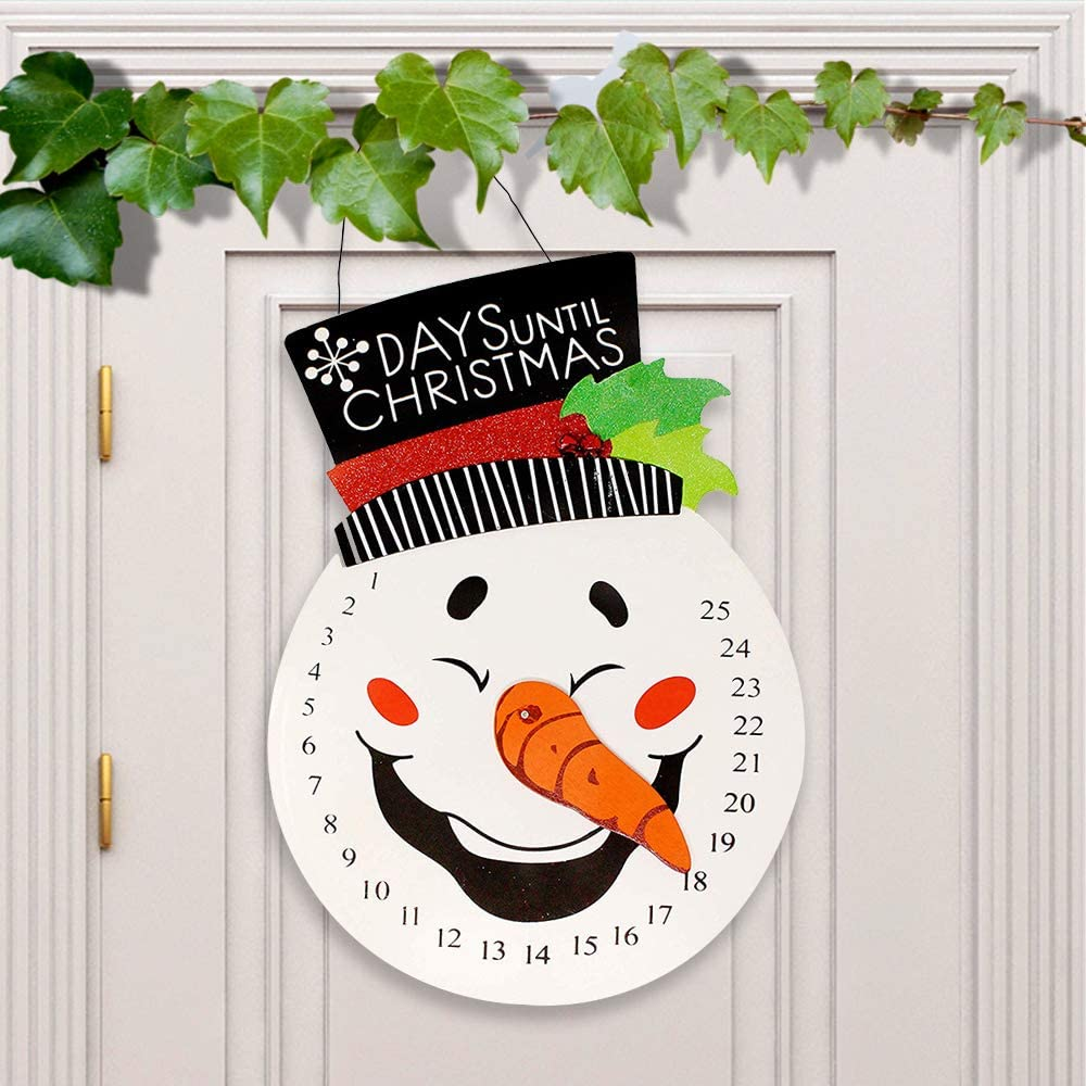 JOYIN Snowman Advent Calender Indoor/Outdoor Hanging Christmas Countdown for Xmas Decorations, Office Decorations, Winter Holiday Home Decor, Party Supplies
