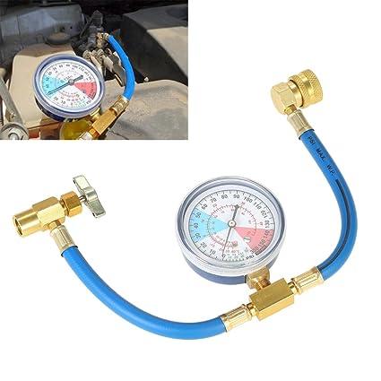 VISLONE AC R134A Car Air Conditioning Refrigerant Auto Charging Measuring  Hose Gauge Kit