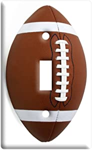 Football - Plastic Wall Decor Toggle Light Switch Plate Cover