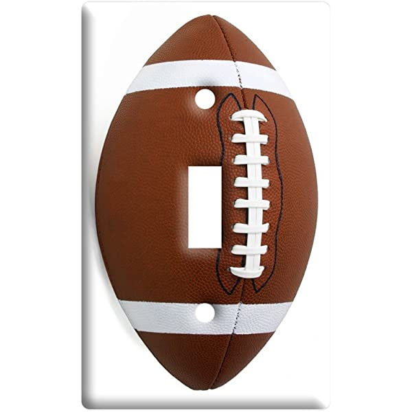 Football Plastic Wall Decor Toggle Light Switch Plate Cover Amazon Com