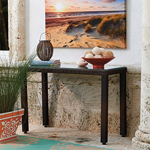 Brylanehome Santiago Console Table (Brown,0) (Outdoor Accent Tables Clearance)