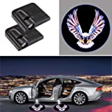 2 Pieces American Bald Eagle Wireless Car Door Logo Light, LED Car Door Courtesy Welcome Projector Light Ghost Shadow…