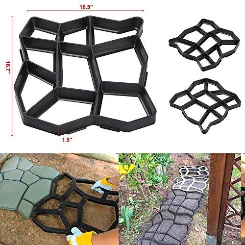Cheap  go2buy 2 Pack Plastic Pathmate Walk Way Paver Concrete Stone Mould Paving..