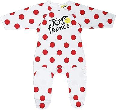 Le Tour de France - Pijama oficial para bebé, diseño del maillot del líder de la clasificación de la montaña del Tour de Francia, color blanco, tamaño ...