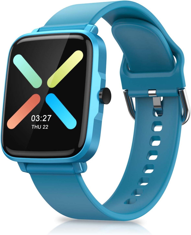 Timoom Reloj Inteligente, Smartwatch Reloj Deportivo Impermeable con Cronómetro, 11 Modos de Deportes, Podómetro, Pulsómetro, Calorías, Monitor de Sueño, F2 Smartband Hombre Mujer niños