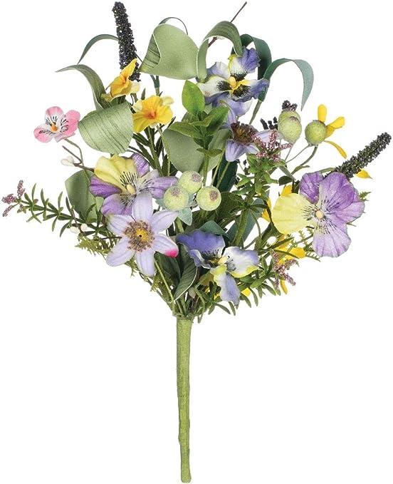 Artificial Imitation Silk Flowers Asstd Sweet Peas x 12 Home Garden Grave