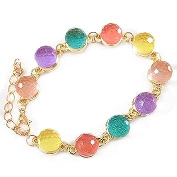 68133827dee4 Scrox Pulsera de moda coloridas pulseras de caramelo accesorios colgantes  de la joyería Pulsera de cristal transparente para amigos regalo de amante   ...