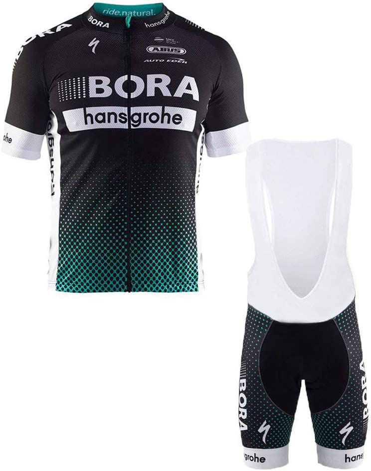Wulibike Maillot V/élo Route Homme Tenue Cycliste Manches Courte Cycling Jersey Pro /Ét/é