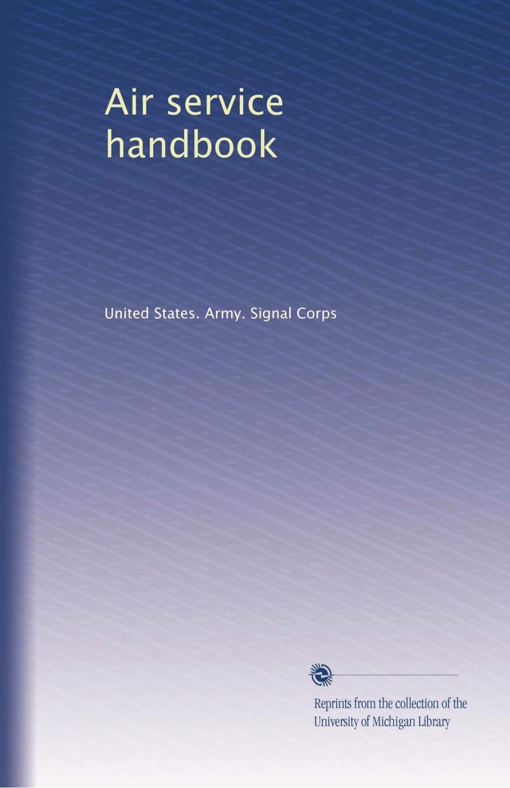 Read Online Air service handbook pdf epub