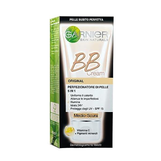 35 opinioni per Garnier BB Cream Original Crema Viso di Pelle 5 in 1, Medio Scura- 50 ml