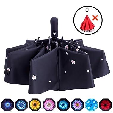 Fidus Inverted Reverse Sun&Rain Car Umbrella Large Windproof Travel UV Umbrella Women Men - Auto Open Close
