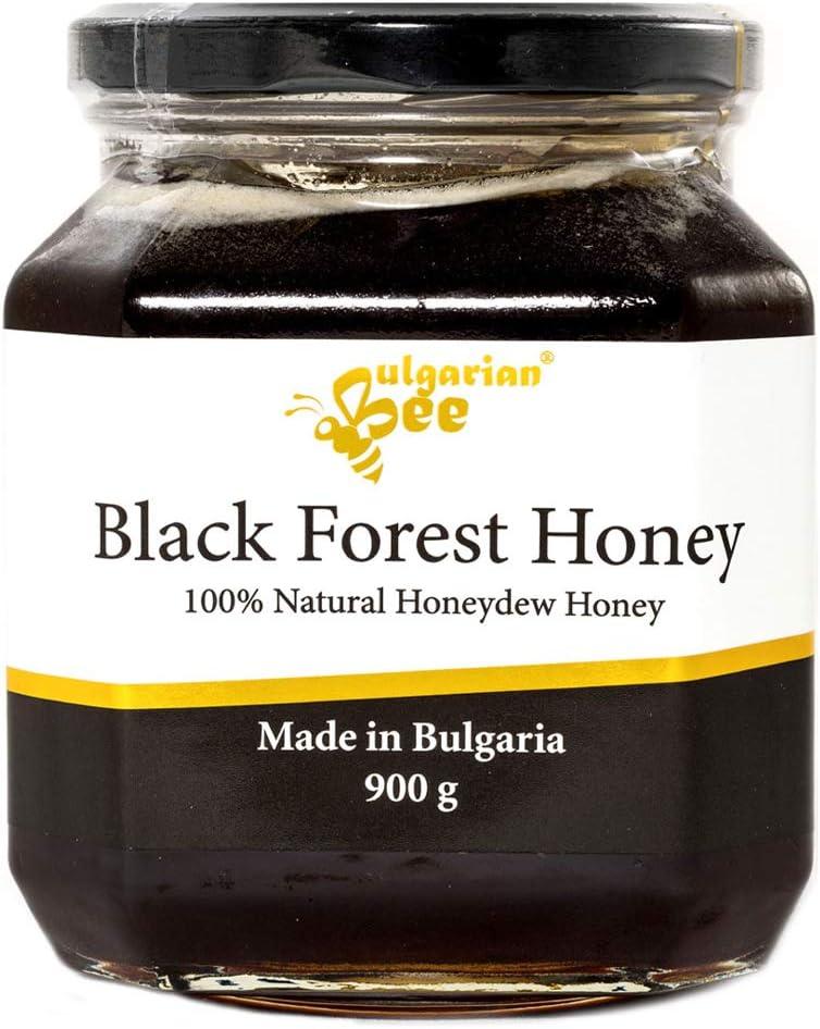 900 g Gotas de Miel, Miellada Negro Miel, Naturaleza de Montaña Virgen bosque, Certificado sin antibióticos, sin azúcar, sin calentar, sin pasteurizar, crudo, miel real BulgarianBee®
