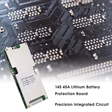 Lithium Battery Charging Board, 14S 45A Battery Cell Protection Board BMS  PCB Protection Board Charger Module, Li-ion Protection Board