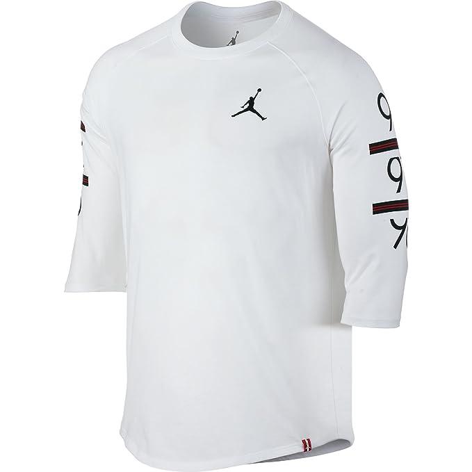 Jordan Camiseta Manga Larga 6 Times 3/4 Raglan Blanco/Negro Talla: XS