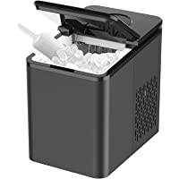 SOOPYK Ice Makers Countertop, Portable Ice Maker Makes 27 lbs Ice in 24 hrs-Ice Cubes Ready in 5-7 Mins, Ice Maker…