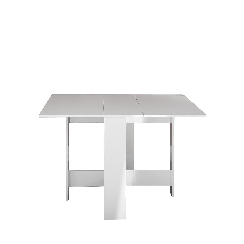 Modern Loft Mesa Plegable, Blanco, 103 x 76 x 73.4 cm