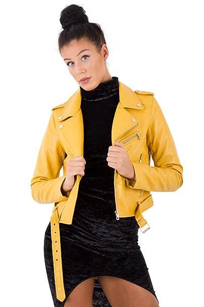Catwalk - Chaqueta - para mujer amarillo Mostaza UK: M (38 ...