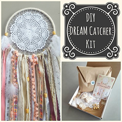 Creative Christmas Gift of 2017. Large Luxurious DIY Doily Dream Catcher Craft Kit for Adults or Children by The House Phoenix from The House Phoenix