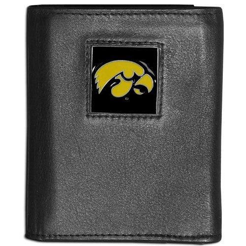 NCAA Iowa Hawkeyes Leather Tri-Fold Wallet ()