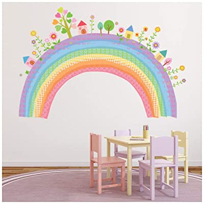 azutura City Rainbow Wall Sticker Childrens Wall Decal Nursery Home Decor Available in 8 Sizes XX-Large Digital: Kitchen & Dining
