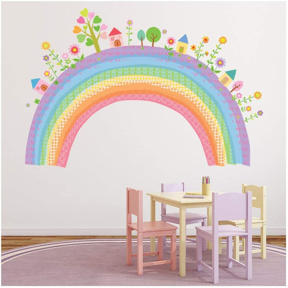 Azutura City Rainbow Wall Sticker Childrens Wall Decal Nursery Home Decor Available In 8 Sizes Gigantic Digital