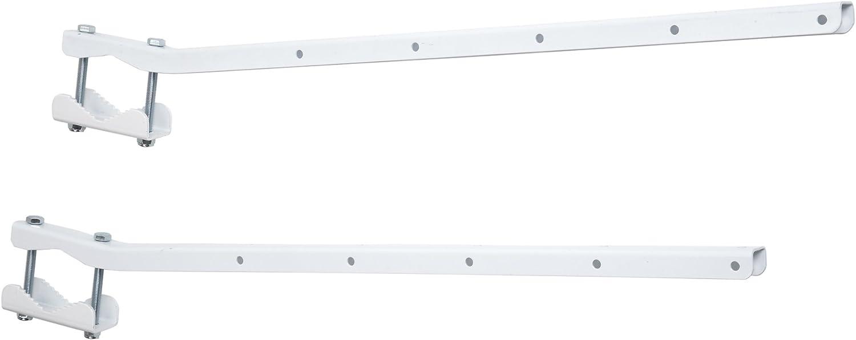 Sauvic Blanco TENDEDERO BARANDA Adaptable, Hierro galvanizado con Pintura cerámica, 63x4x7 cm