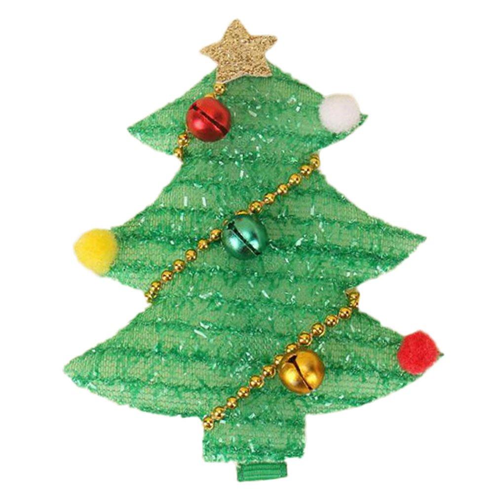 Kanggest Pinzas de Pelo Bebe Niña árbol de Navidad Horquillas de Pelo Clip para Día de Navidad Adornos de Pelo Accesorios,1 Piezas(Rojo): Amazon.es: Bebé