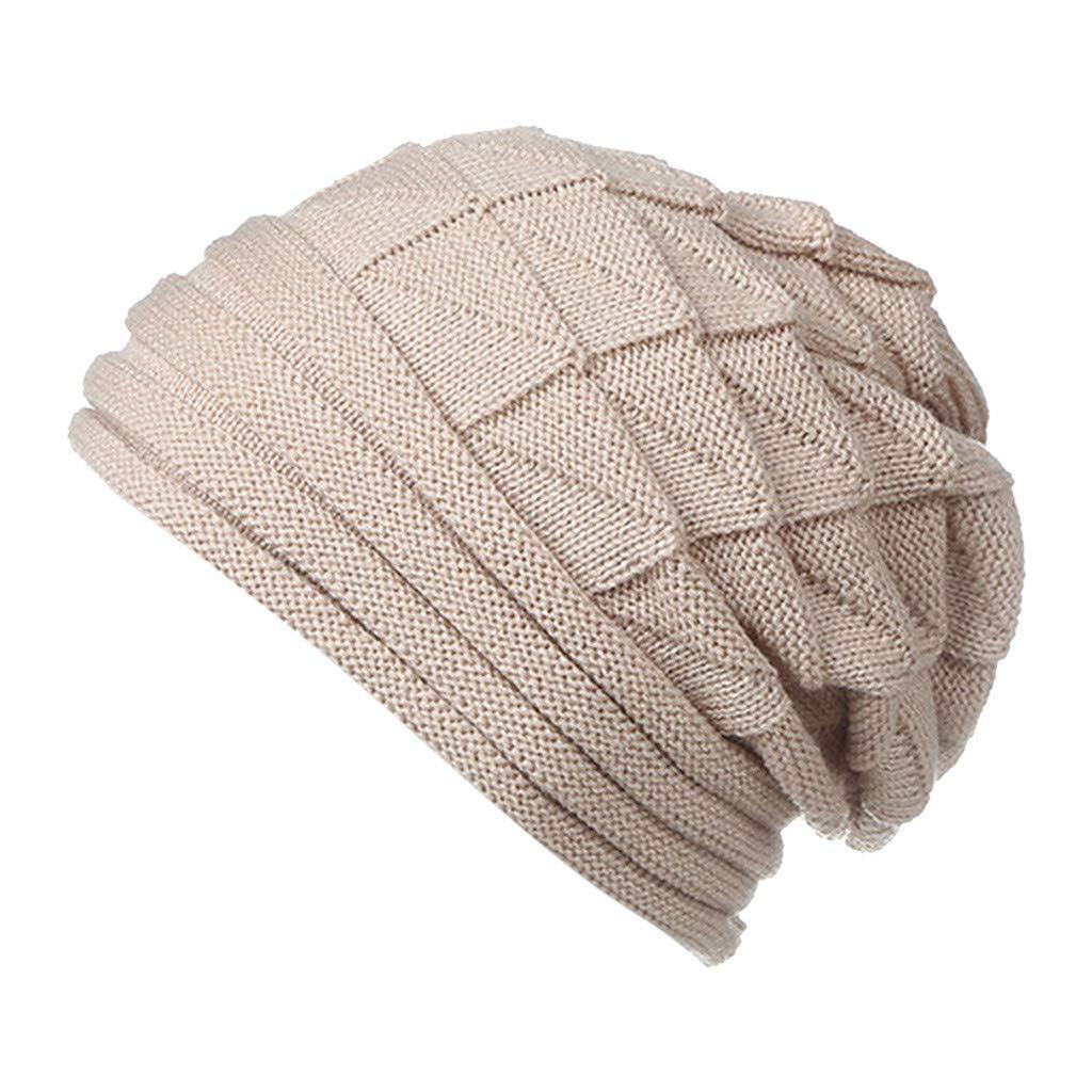 Nadition Beanie Cap,2018 New Men Womens Winter Knit Slouchy Beanie Hip-hop Baggy Warm Soft Chunky Stripe Hat Outdoor Ski Caps