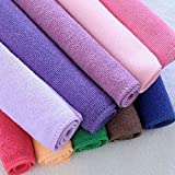 VIPASNAM-10pcs Multi-Color Pure Cotton Hotel & Spa Bath Towels Quick Dry Towel 2525cm