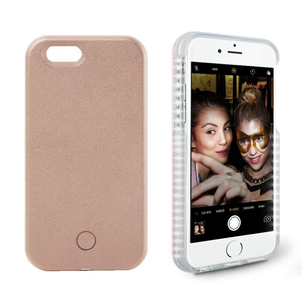 Illuminated Selfie Case Light up LED Cell Phone Cases Luminous External Charger Battery for iPhone (for iPhone X/Xs) etopbest