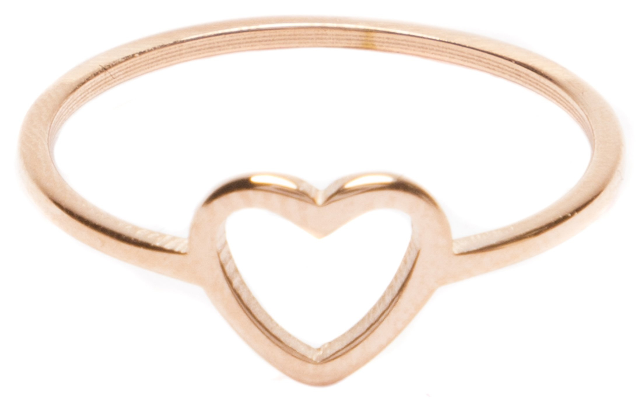 Heart Ring in Rose Gold | Delicate Ring Stainless Steel Jewelry