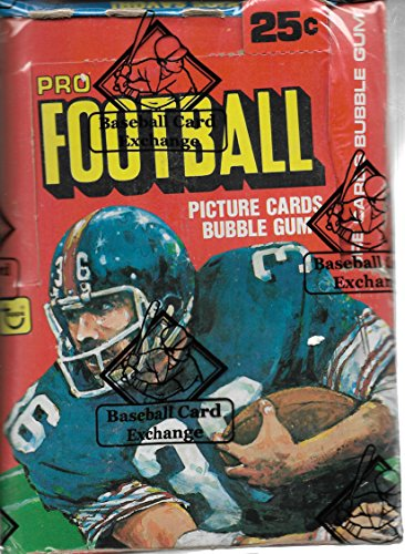 Closeout Football (1980 Topps Football Sealed Box Of 36 Packs Non Closeout No Black Line BBCE Cert)