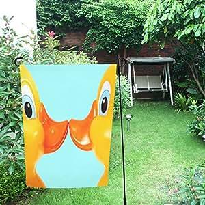 Happy más personalizado amor patos Decor doble jardín bandera 12x 18inch
