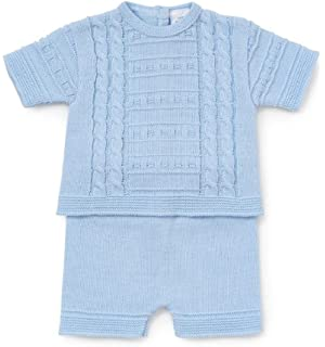 Spanish Knitted Baby Romper Blue 3 Months Amazon Co Uk Baby