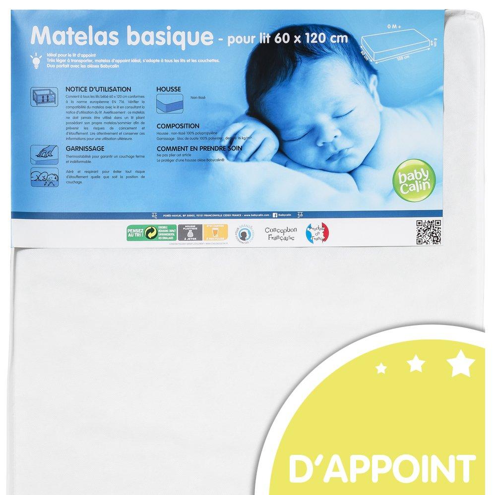 BABYCALIN - Matelas bébé d'appoint - pour lit 60 x 120 BBC532606