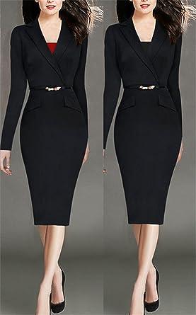 B Dressy Women Winter Autumn Dress Bodycon Office Dresses Formal