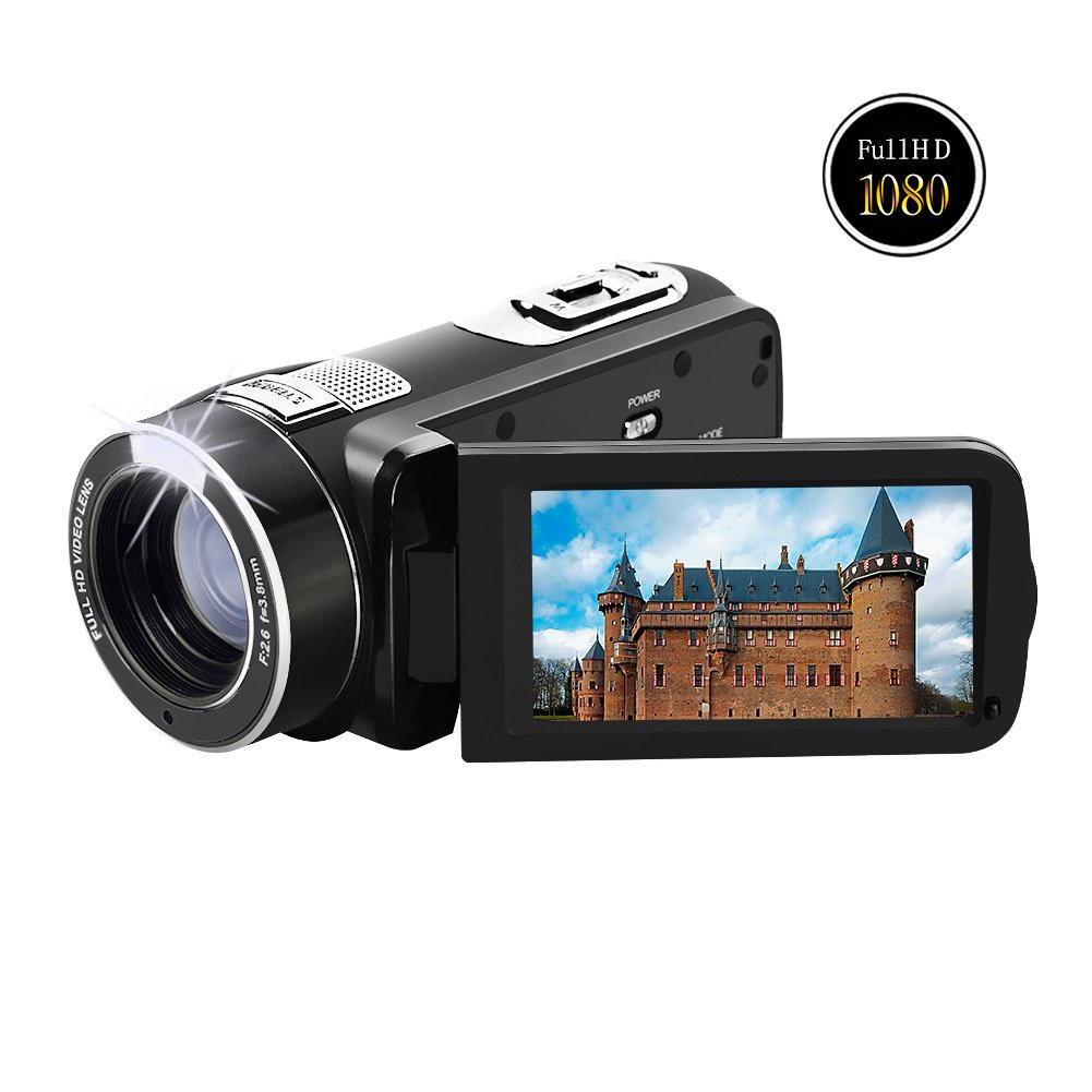 """Camcorder Video Camera Full HD 1080p @30fps Camcorders 3"""" Touch Screen Digital Camera Support Webcam with Remoter Controller"""