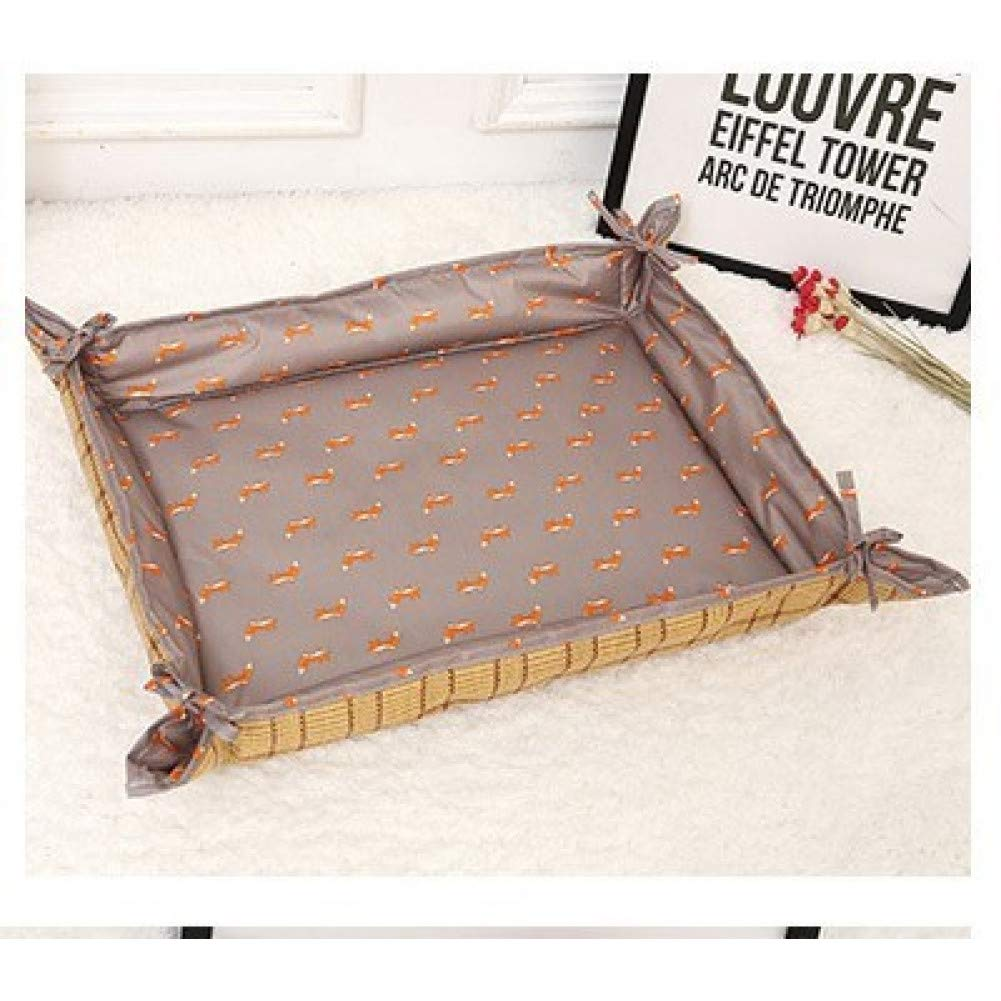 CZHCFF Cool bed for summer dogs print wicker cooling pet dualuse puppy nest summer mattress sleeping cat pet jewelry