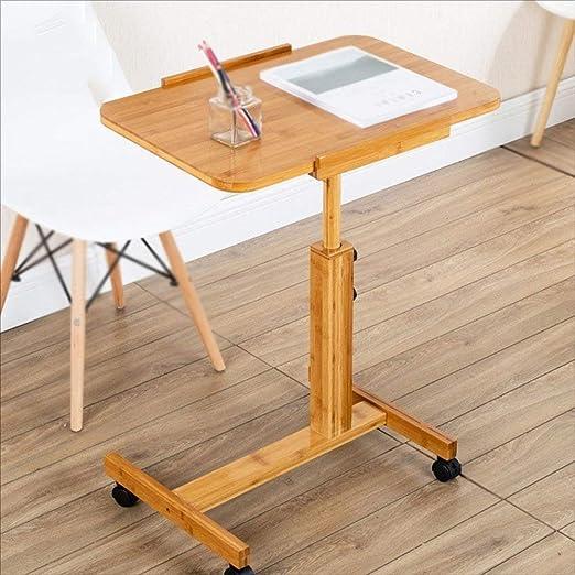Escritorio de Computadora de Altura Ajustable con Ruedas, Mesa de ...