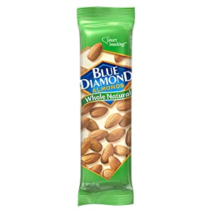 Blue Diamond Almonds, Whole Natural, 1.5 Ounce (Pack of 12)