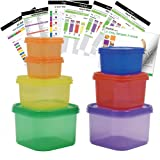 Amazon Price History for:7 PCS Portion Control Containers Kit (with COMPLETE GUIDE & 21 DAY DAILY TRACKER & 21 DAY MEAL PLANNER & RECIPES PDFs) ,Label-Coded,Multi-Color-Coded System,Perfect Size for Lose Weight