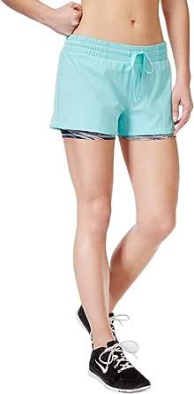 Ideology Womens 2-1 Moisture Wicking Shorts