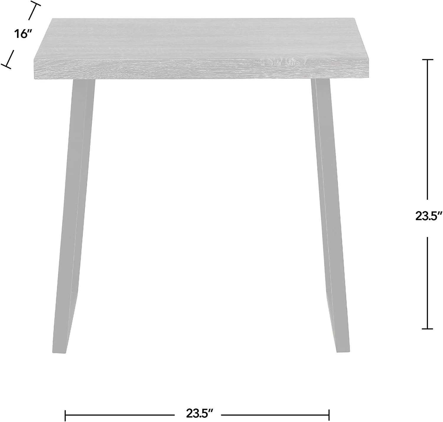 FirsTime & Co. Rhys End Table, American Crafted, Gray, 23.5 x 23.5 x 16, (70189), 23.5 inches