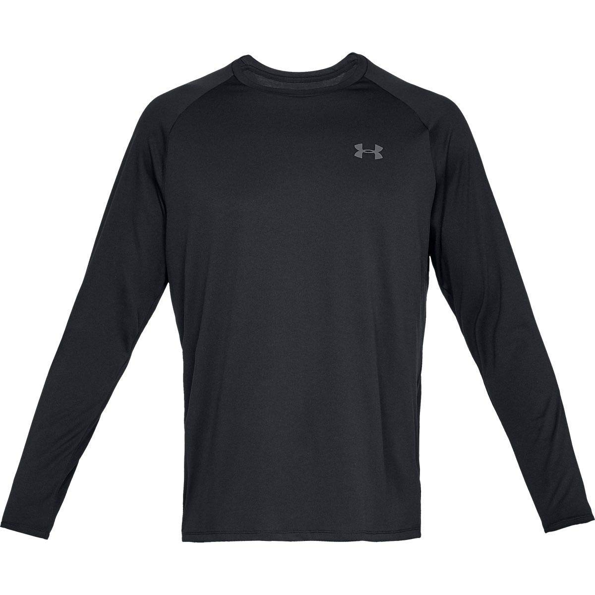 Under Armour Tech 2.0 Long-Sleeve Shirt - Men's Black/Graphite, XS by Under Armour