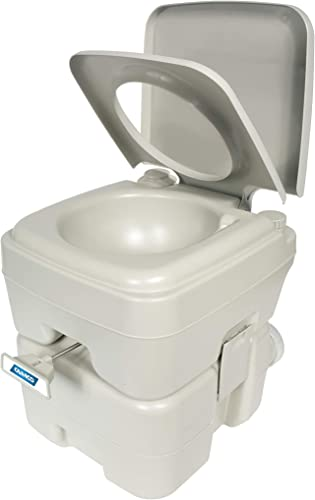Camco (41541) Portable Travel Toilet-Designed for Camping, RV, Boating and Other Recreational Activities-5.3 Gallon